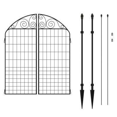 Rockdale 41.9 in. Black Steel Fence Gate