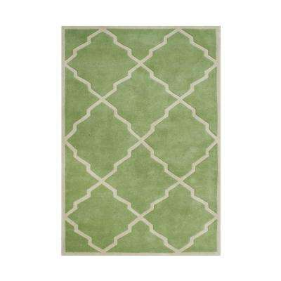 Forest Green 8 Ft X 10 Handmade Area Rug