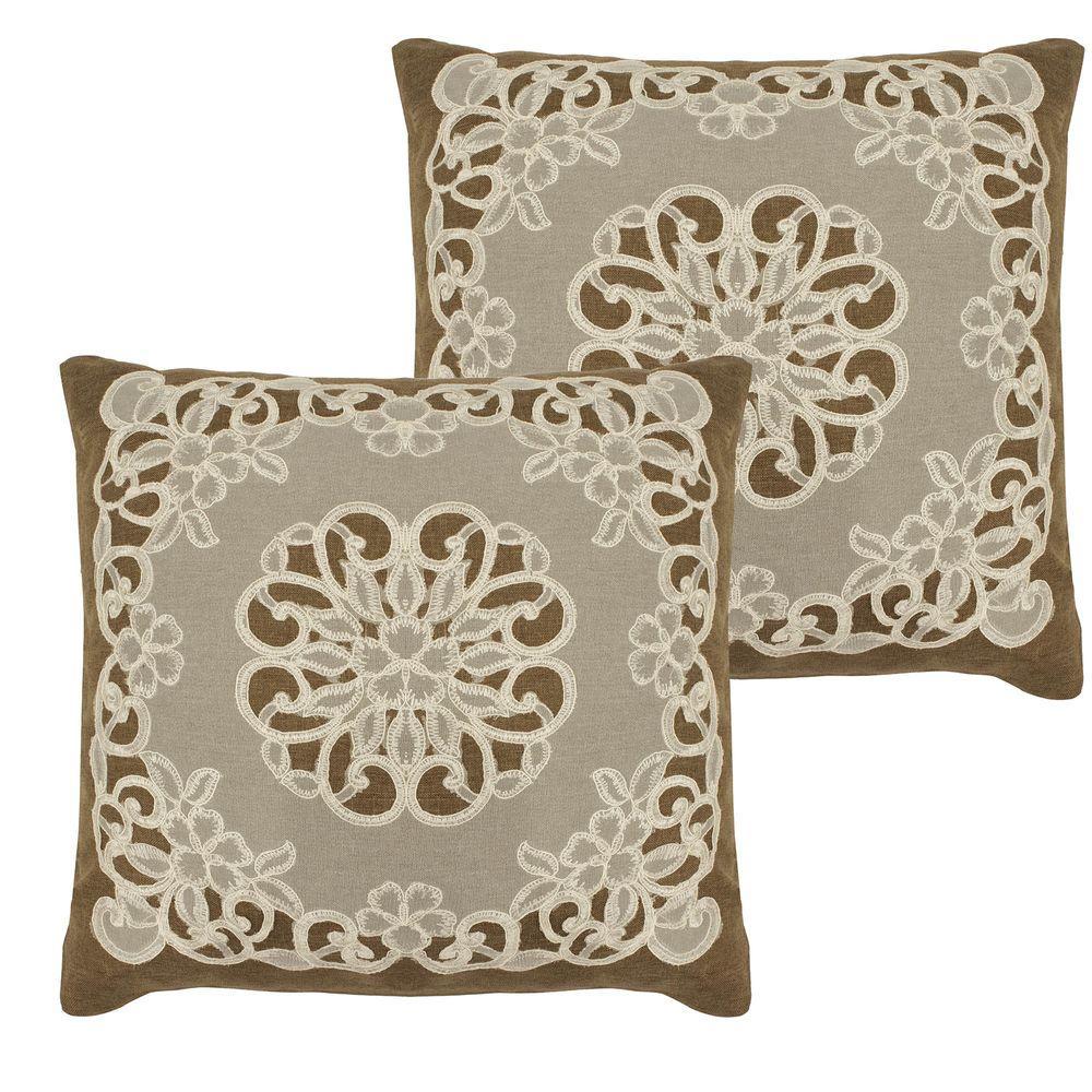 Gretta Natural Standard Pillow Cover (Set of 2)
