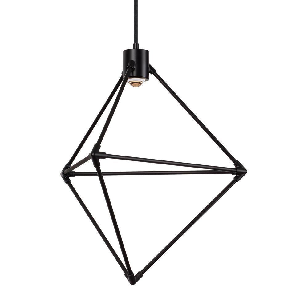 Candora 1-Light Black LED Chandelier