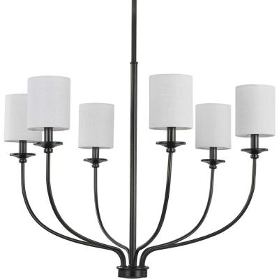 Bonita Collection 6-Light Black Foyer Chandelier
