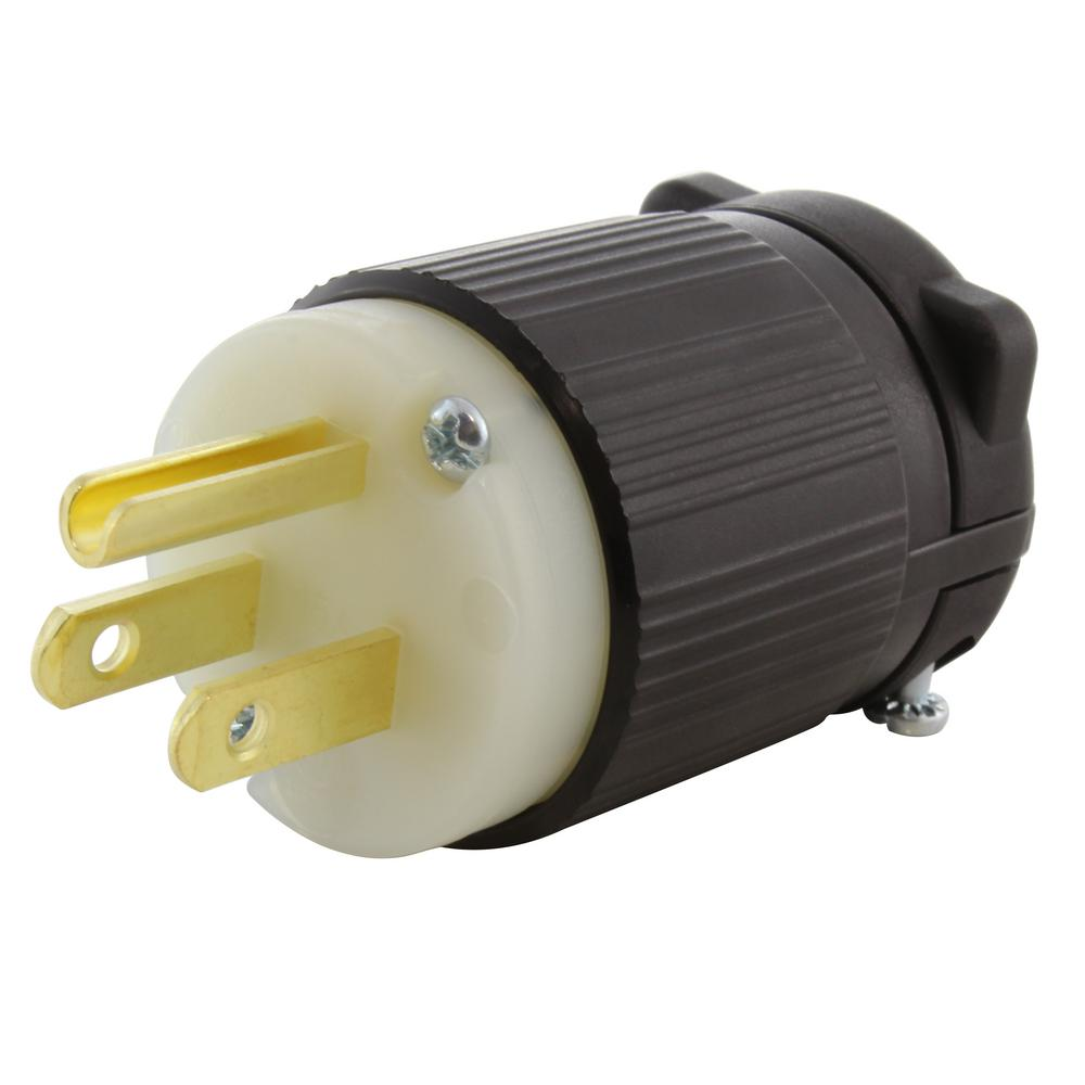 AC WORKS 15 Amp 125-Volt NEMA 5-15P 3-Prong Industrial ...