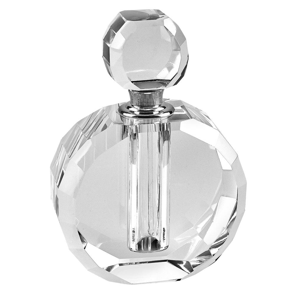 Zoe Clear Round Crystal Perfume Bottle Yd356 The Home Depot