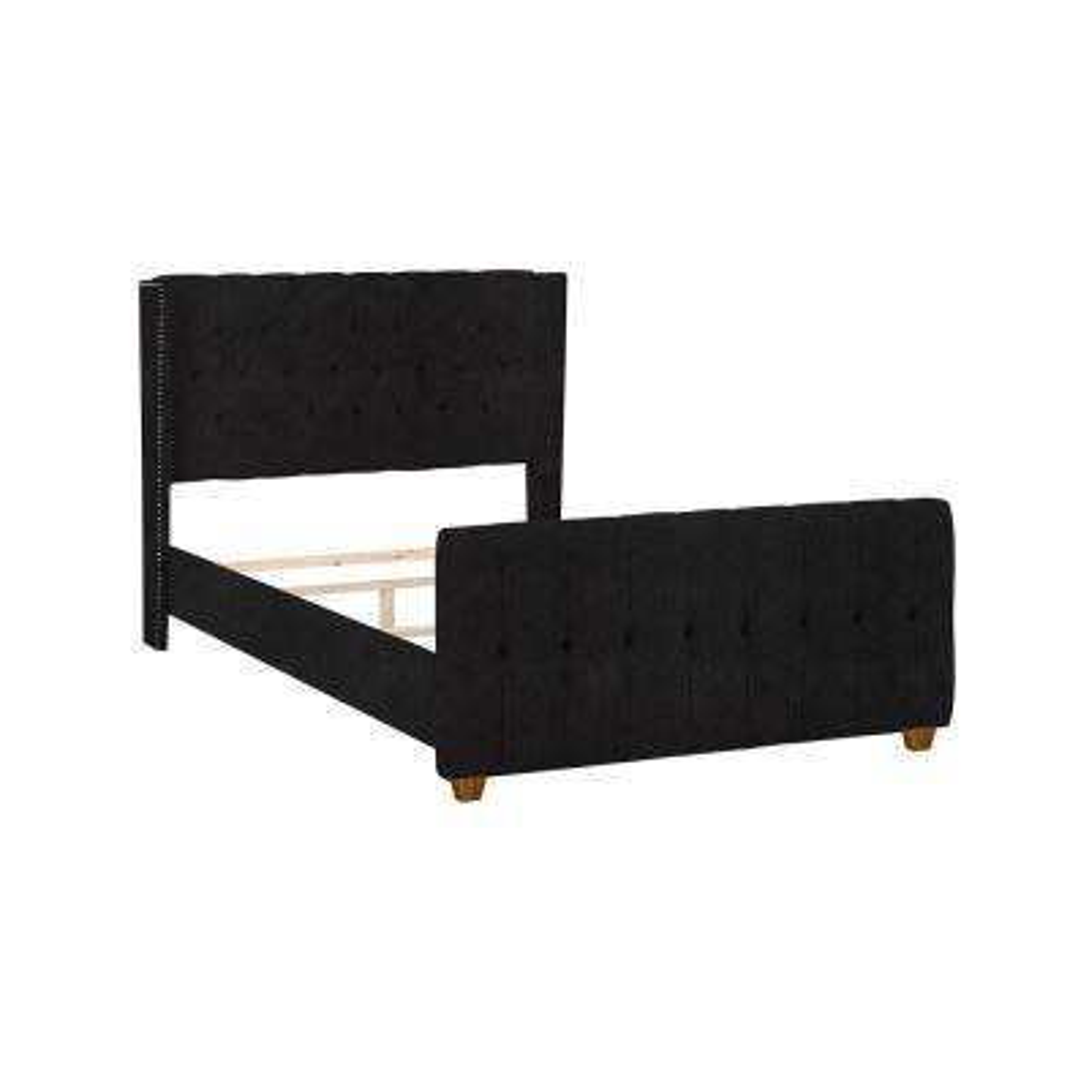 David Dark Heather Gray Queen Upholstered Bed