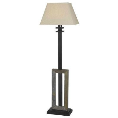Egress 60 in. Green Slate Outdoor Floor Lamp