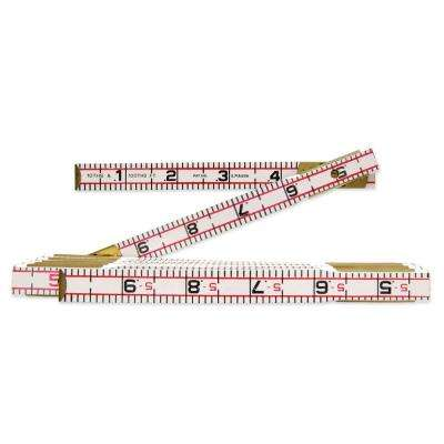 6 ft. x 5/8 in. Engineer's Scale Wood Rule Red End