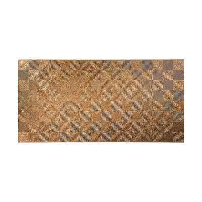 Quattro 96 in. x 48 in. Decorative Wall Panel in Cracked Copper