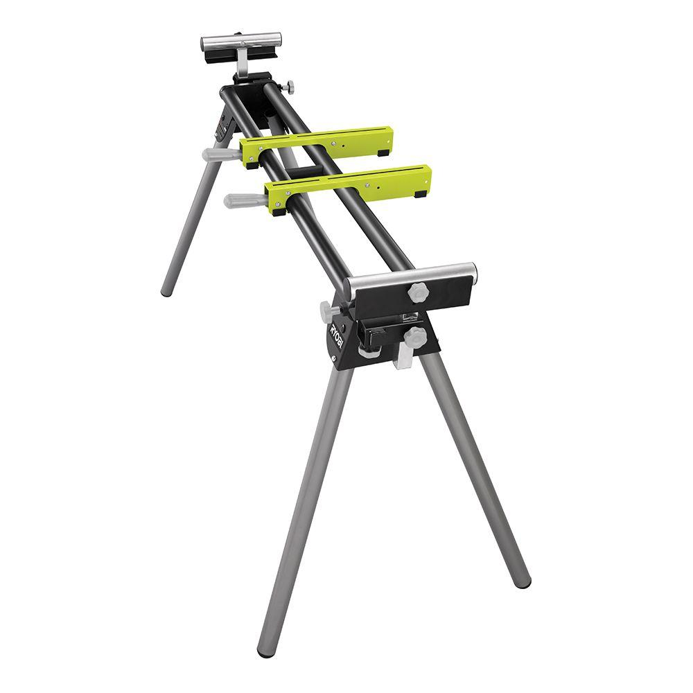 RYOBI Miter Saw Stand with Tool-Less Height Adjustment