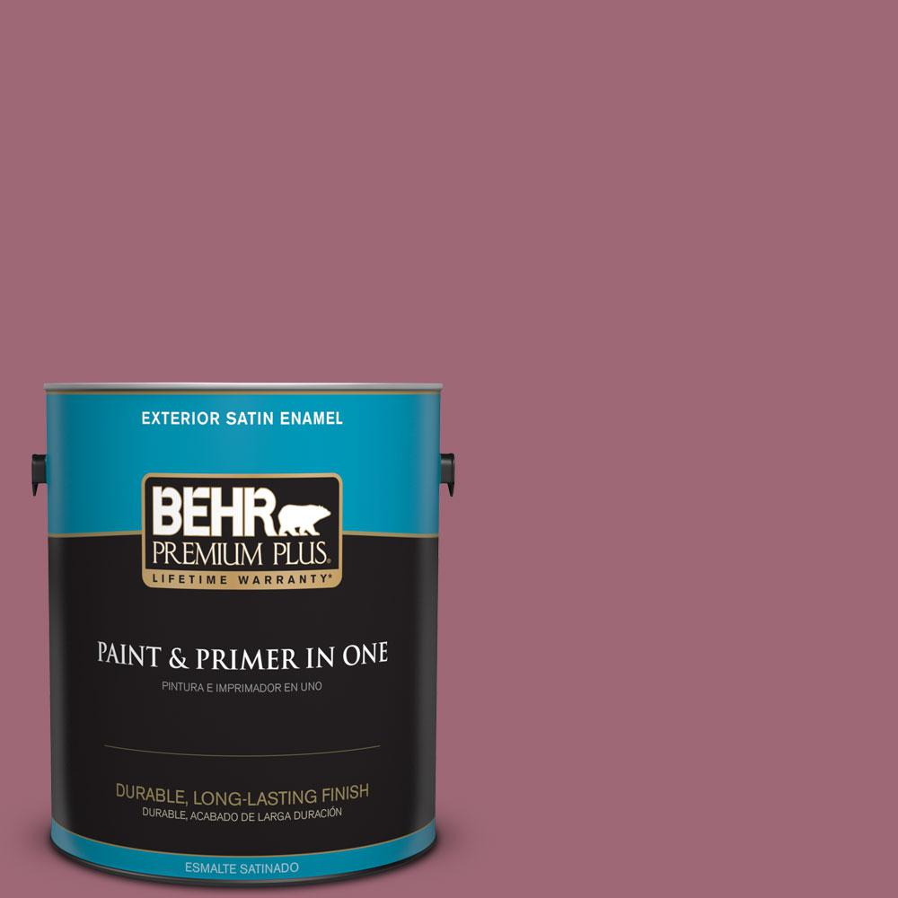 1-gal. #100D-5 Berries and Cream Satin Enamel Exterior Paint