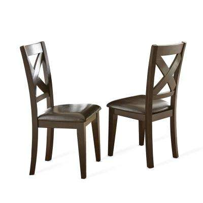Crosspointe Dark Espresso Side Chairs (Set of 2)