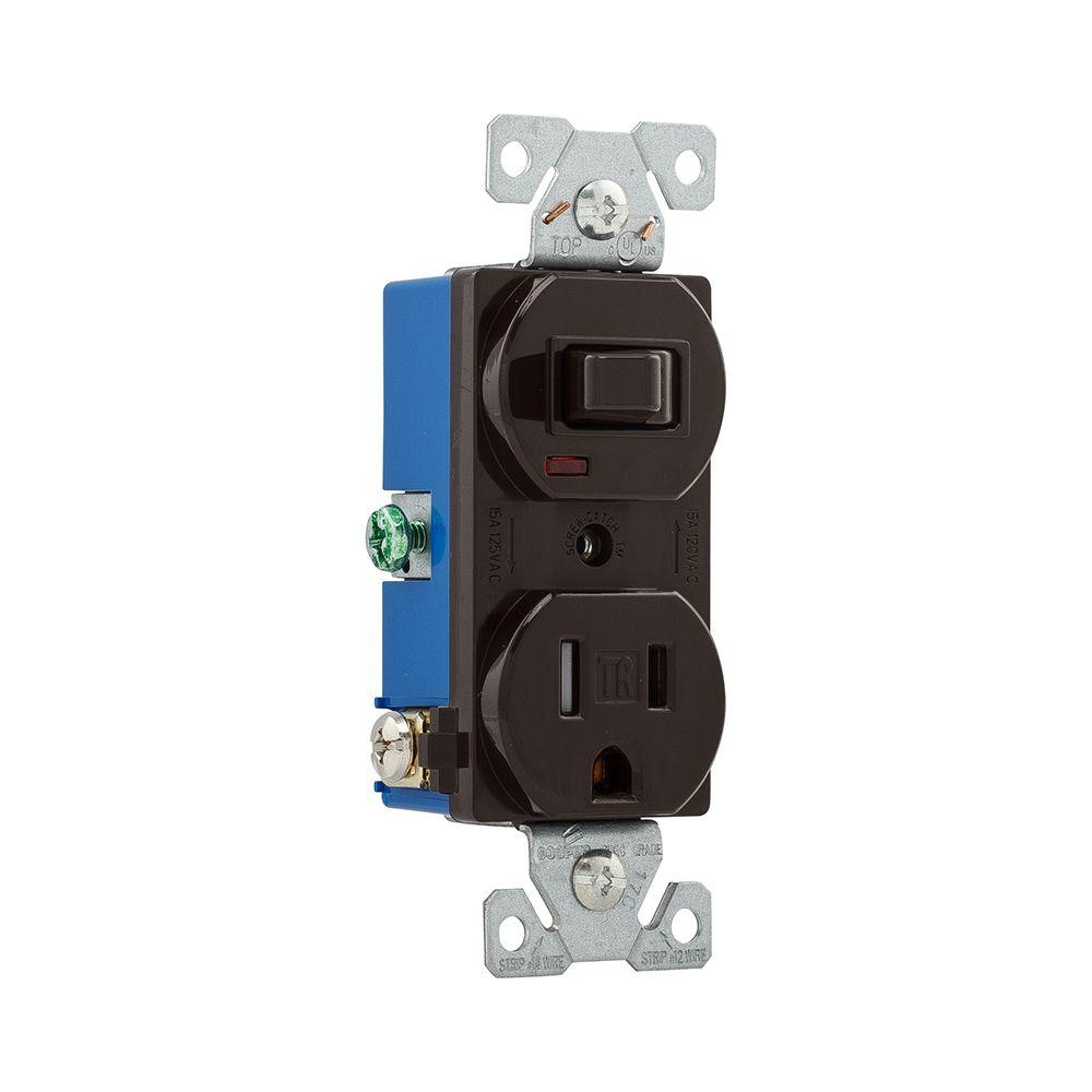 LEVITON 5225-I 15 Amp 125 V L5-15R Switch Receptacle