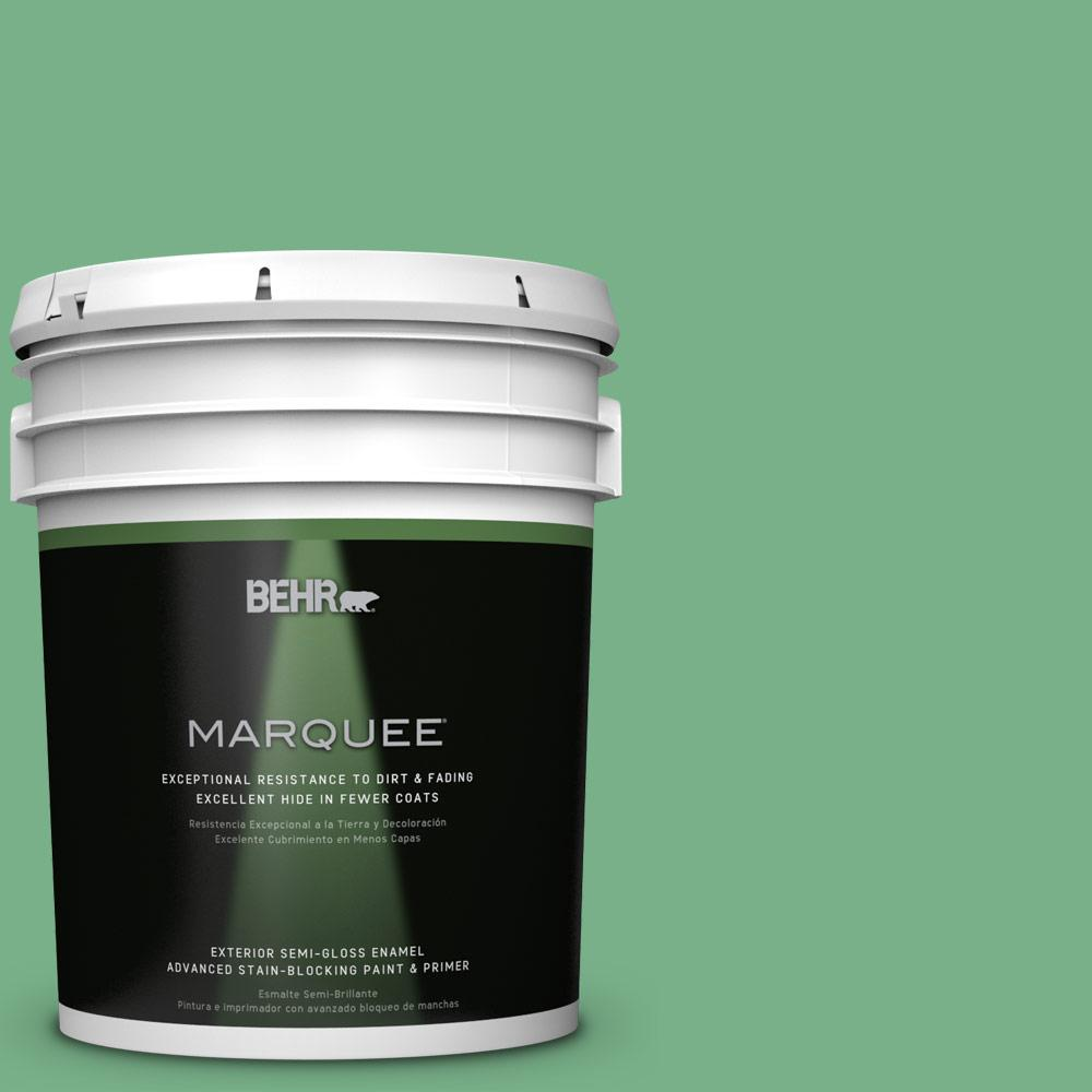 5-gal. #M410-5 Green Bank Semi-Gloss Enamel Exterior Paint