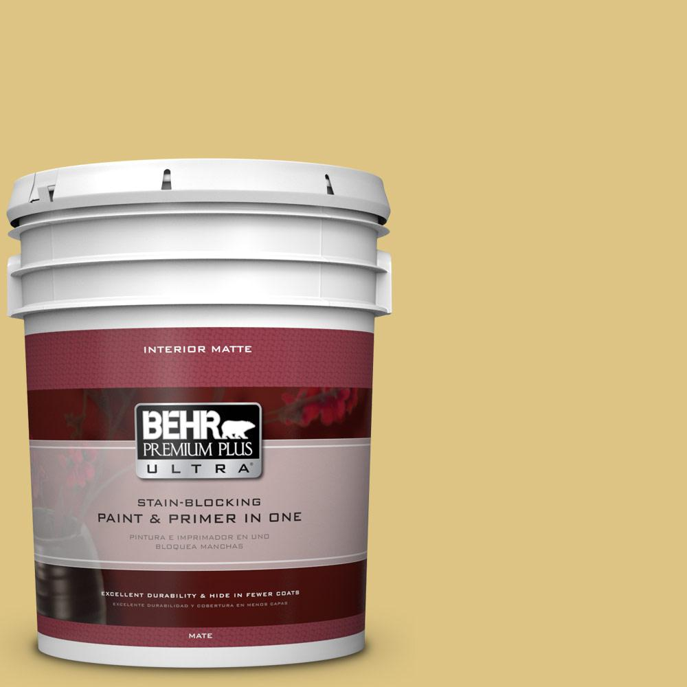 BEHR Premium Plus Ultra 5 gal. #390D-5 Sea Kelp Flat/Matte Interior Paint