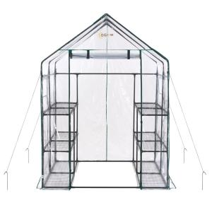 Ogrow 56 inch W x 56 inch D Deluxe Walk-in 6-Tier 12 Shelf Portable Greenhouse by Ogrow