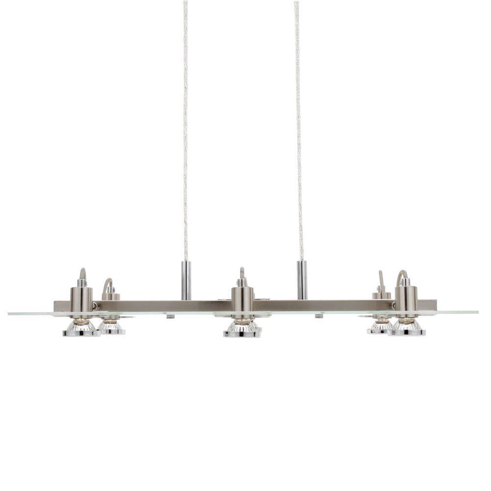 Eglo Focus 6-Light Matte Nickel Hanging Chandelier