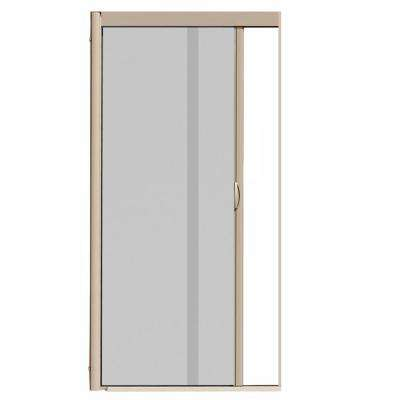 Captivating VS1 Desert Tan Retractable Screen Door, Single Cassette