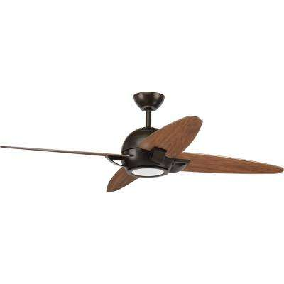 Soar Collection 54 in. LED Antique Bronze Ceiling Fan