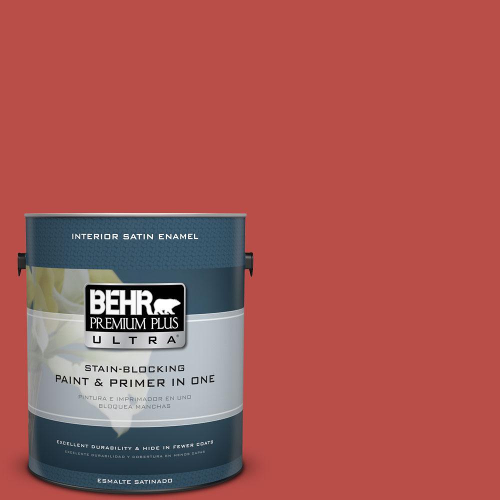 BEHR Premium Plus Ultra Home Decorators Collection 1-gal. #HDC-MD-16 Cherry Red Satin Enamel Interior Paint