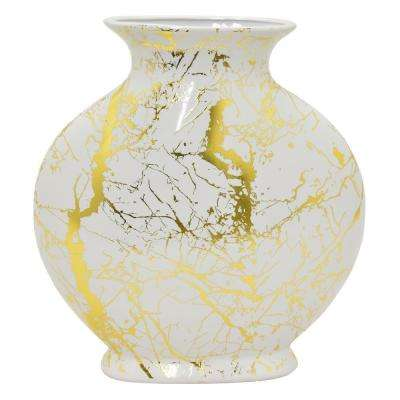 12 in. White Ceramic Vase