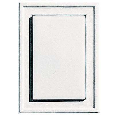 4.5 in. x 6.25 in. #117 Bright White Raised Mini Universal Mounting Block