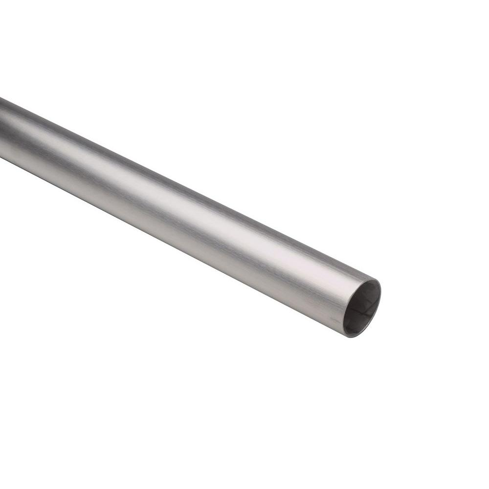 4 ft. Satin Stainless Steel 1-1/2 in. Outside Diameter Tubing with