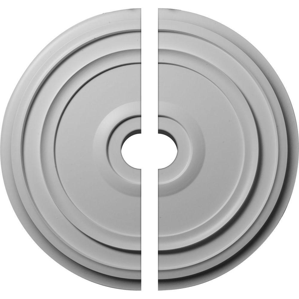 24-3/8 in. O.D. x 3-1/2 in. I.D. x 1-1/8 in. P Reece Ceiling Medallion (2-Piece)