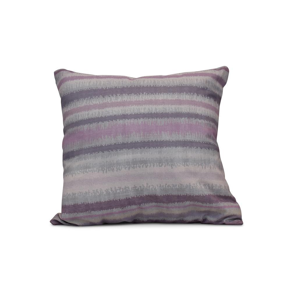 16 in. Raya De Agua Stripe Print Pillow in Lavender