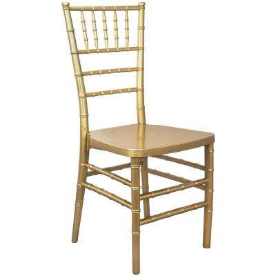 Gold Monoblock Resin Chiavari Chair (20-Pack)