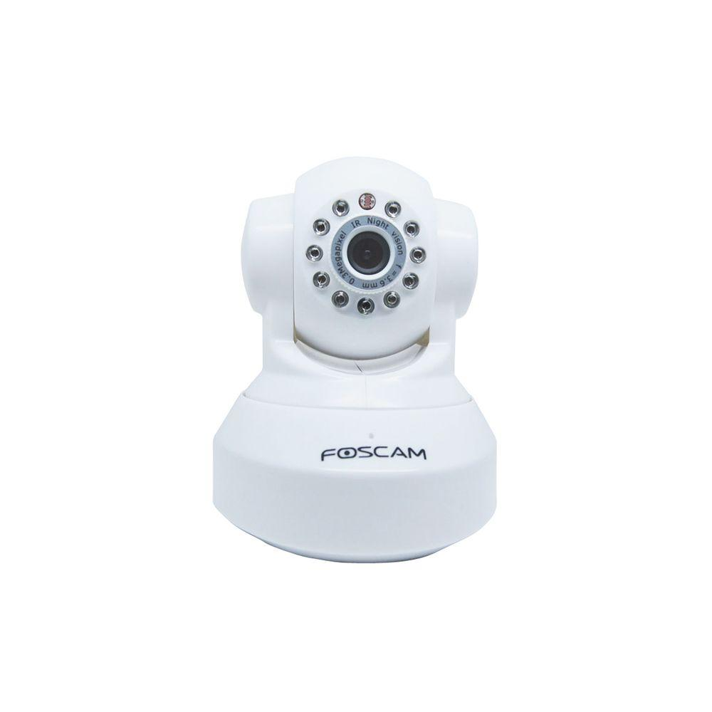 Foscam Wireless 480p Indoor Dome Shaped Pan/Tilt IP Security Camera - White