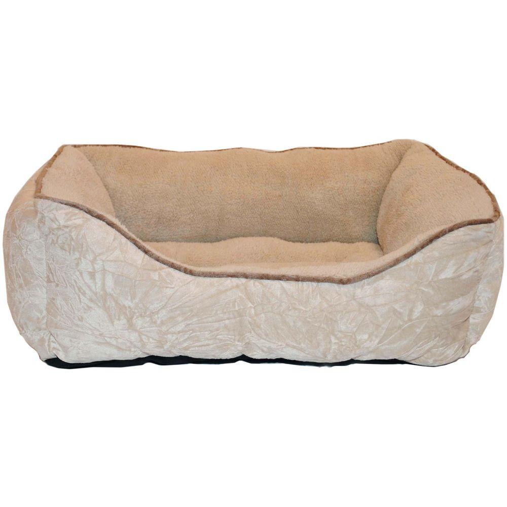 Brinkmann Pet Products 25 in. x 21 in. Tan Plush Box Bed