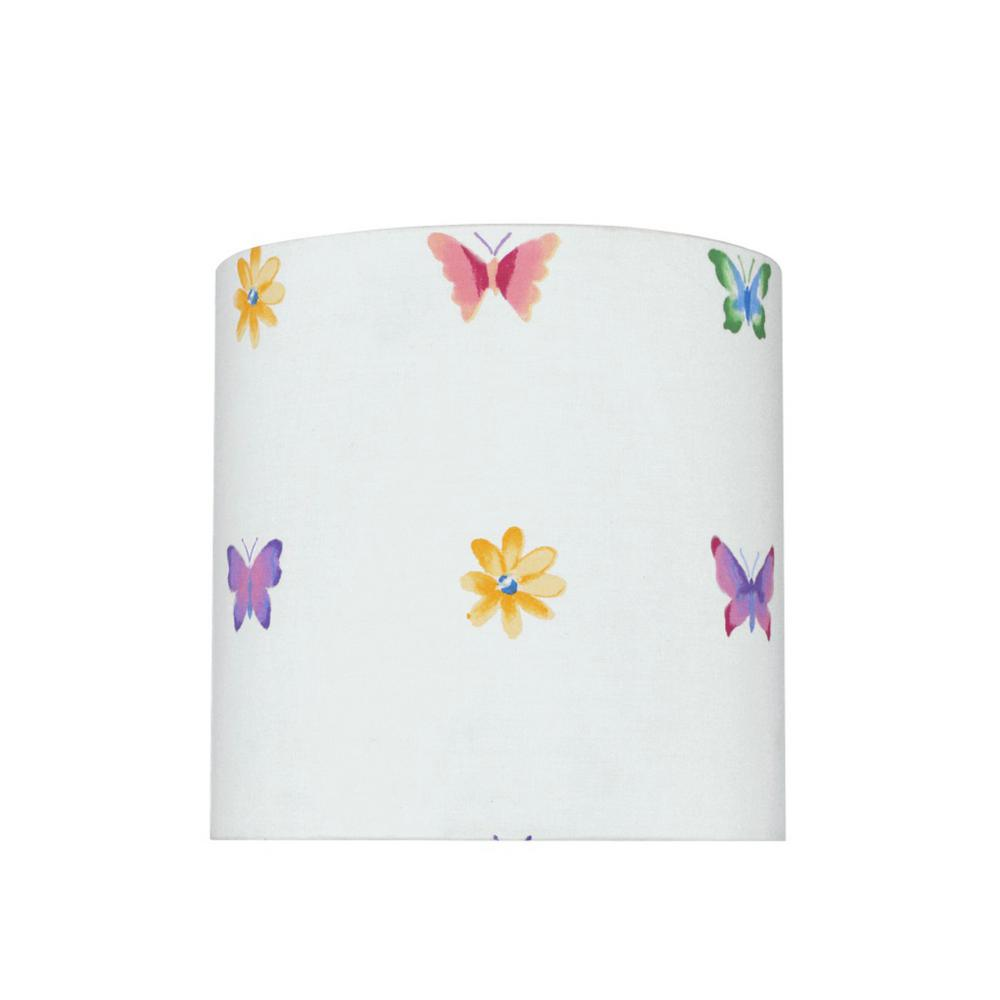 Aspen Creative Corporation 8 In X 8 In White And Butterflies And