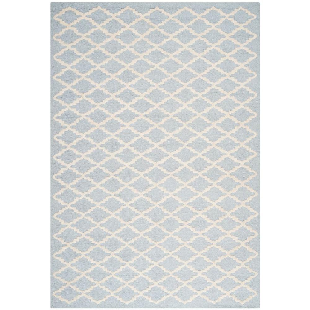 Cambridge Light Blue/Ivory 5 ft. x 8 ft. Area Rug