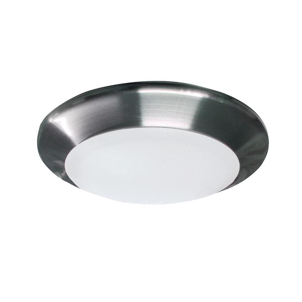 15-Watt Brushed Nickel Integrated LED Flushmount