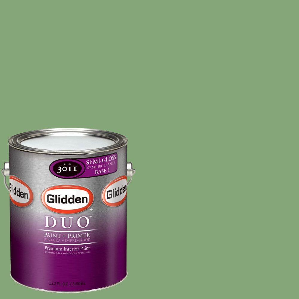 Glidden DUO Martha Stewart Living 1-gal. #MSL108-01S Lemongrass Semi-Gloss Interior Paint with Primer-DISCONTINUED