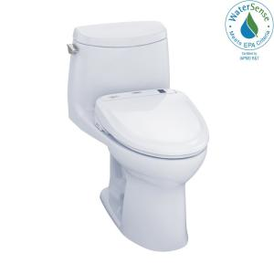 toto ultramax ii connect 1 piece 1 0 gpf elongated toilet with washlet s350e bidet and. Black Bedroom Furniture Sets. Home Design Ideas