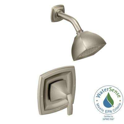 Voss 1-Handle Shower Trim Kit in Brushed Nickel (Valve Not Included)