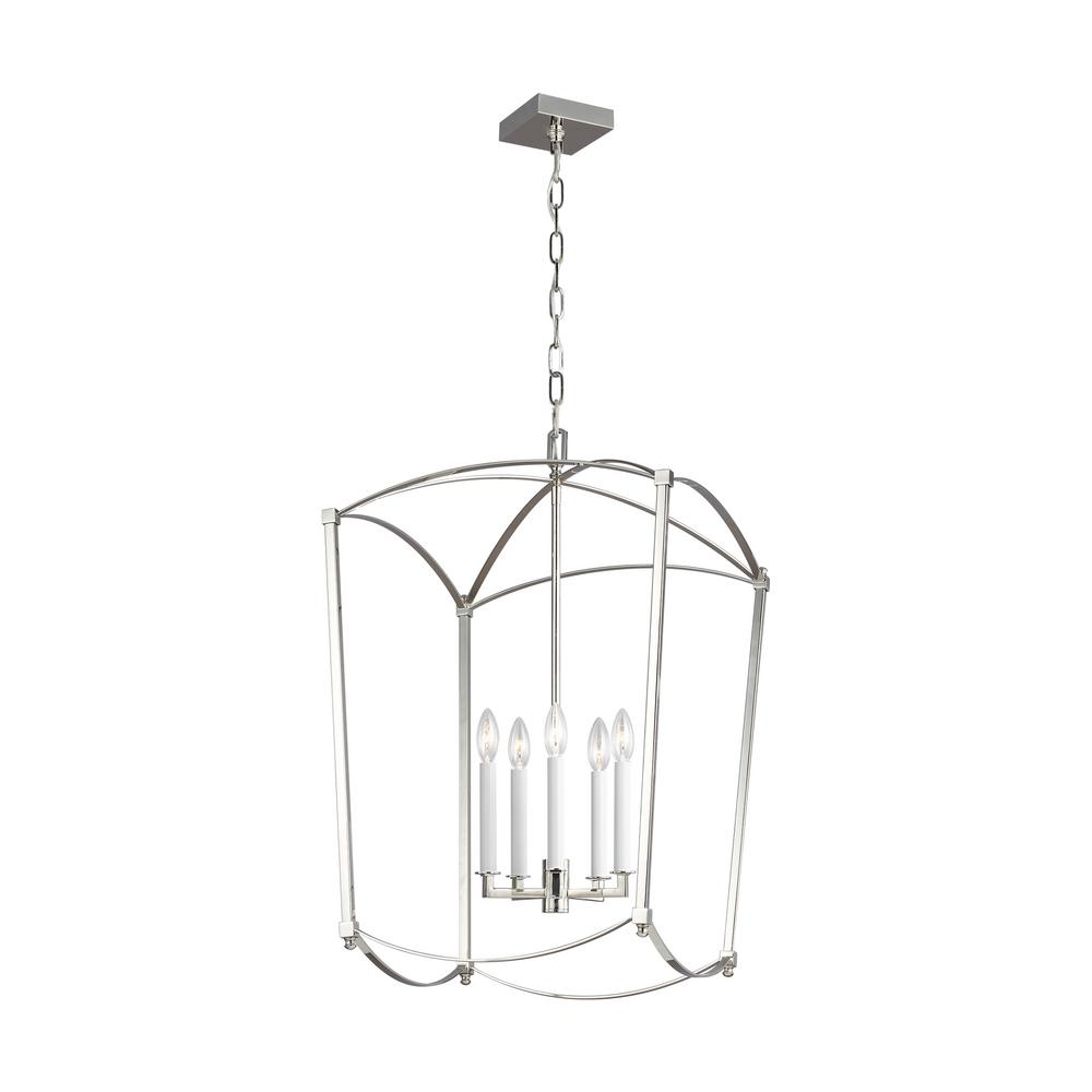 Feiss Thayer 5-Light Polished Nickel Chandelier