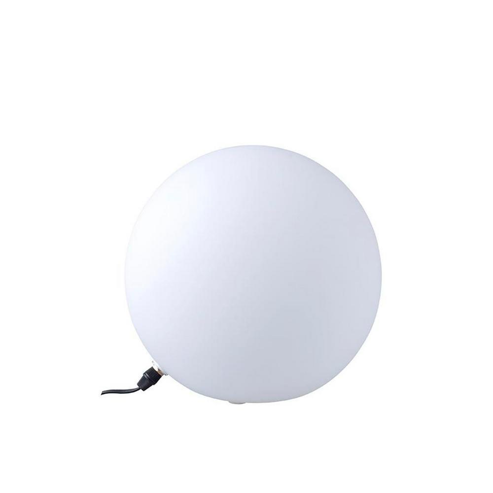 Ore International 9 5 In Large White Glass Globe Table Lamp Kt 194