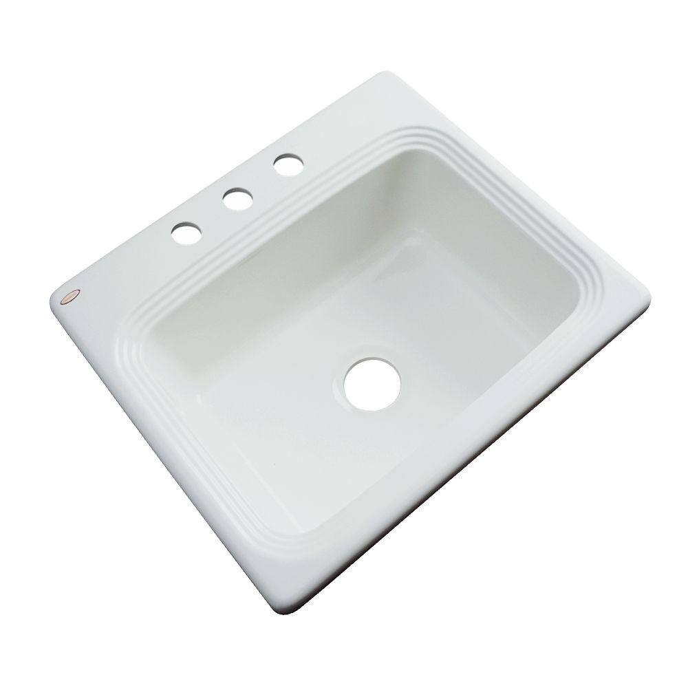 Thermocast Rochester Drop-In Acrylic 25 in. 3-Hole Single...