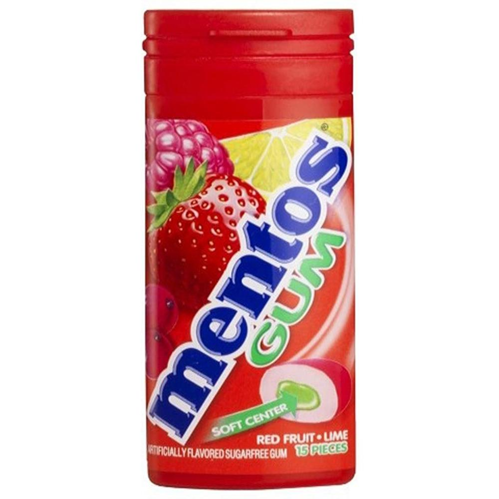 Mentos Red Fruit and Lime Gum 15 pcs. (10-Pack)