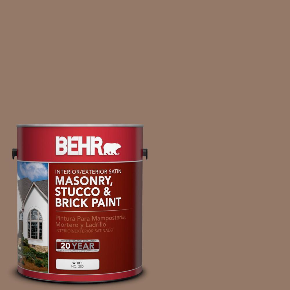 1 gal. #BXC-73 True Walnut Satin Interior/Exterior Masonry, Stucco and Brick Paint