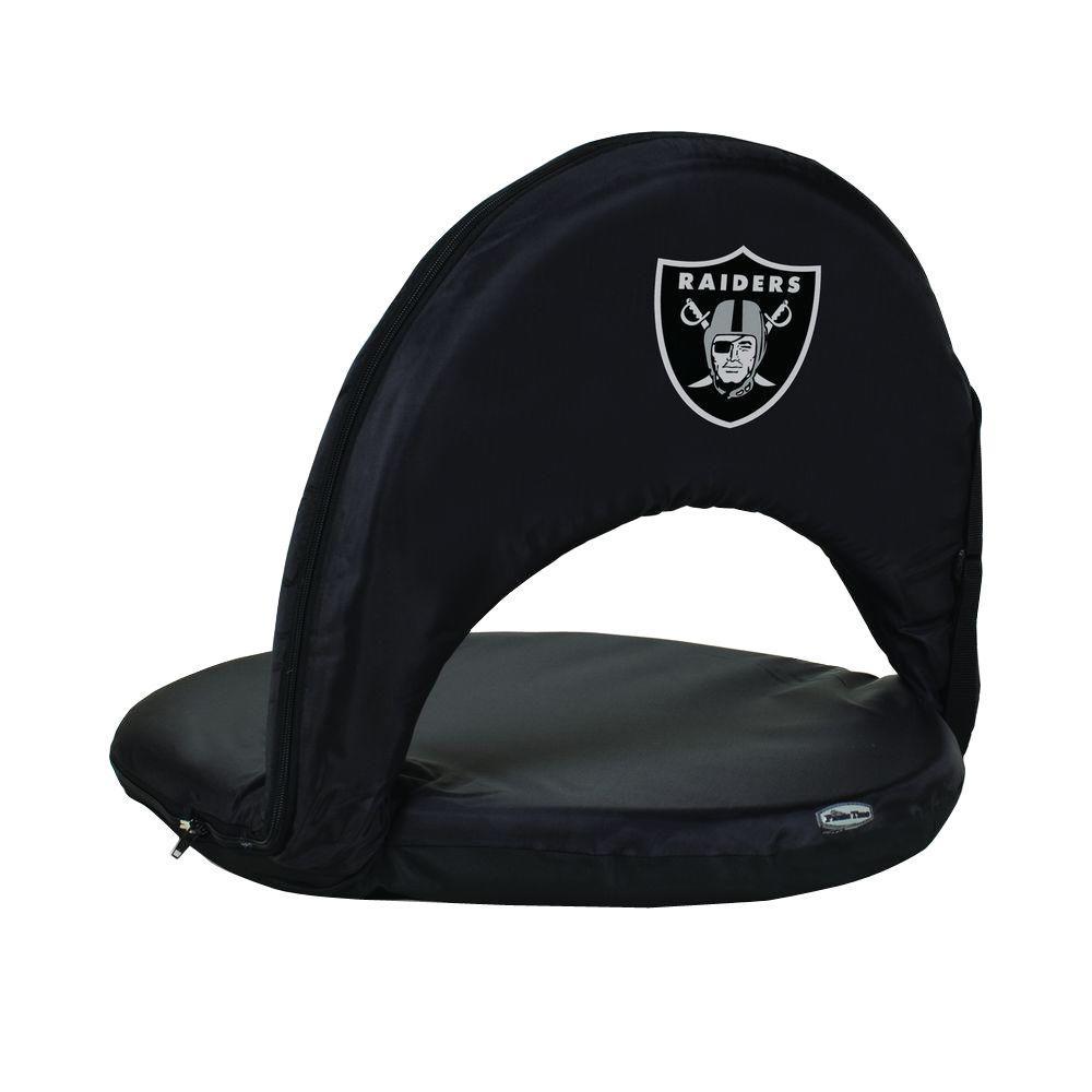 Oniva Oakland Raiders Black Patio Sports Chair with Digital Logo