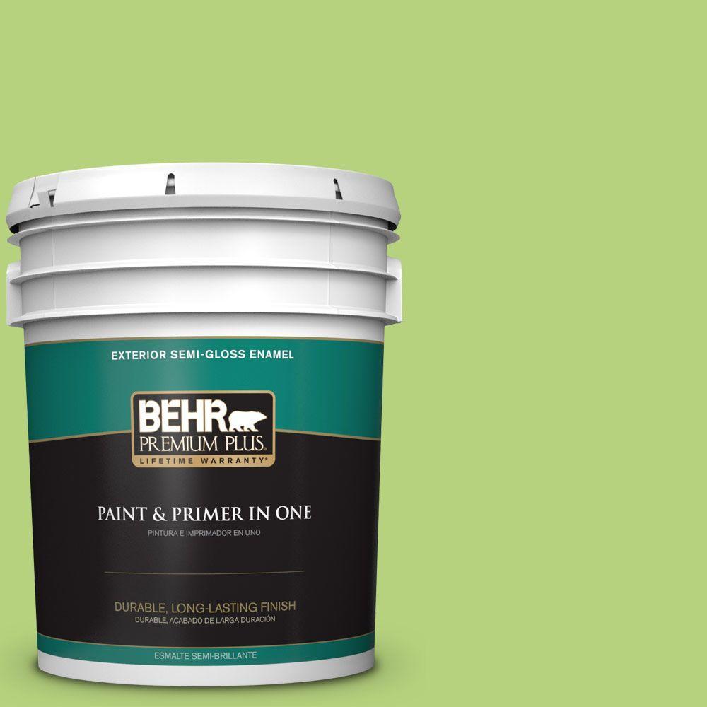 5-gal. #420B-4 Tart Apple Semi-Gloss Enamel Exterior Paint