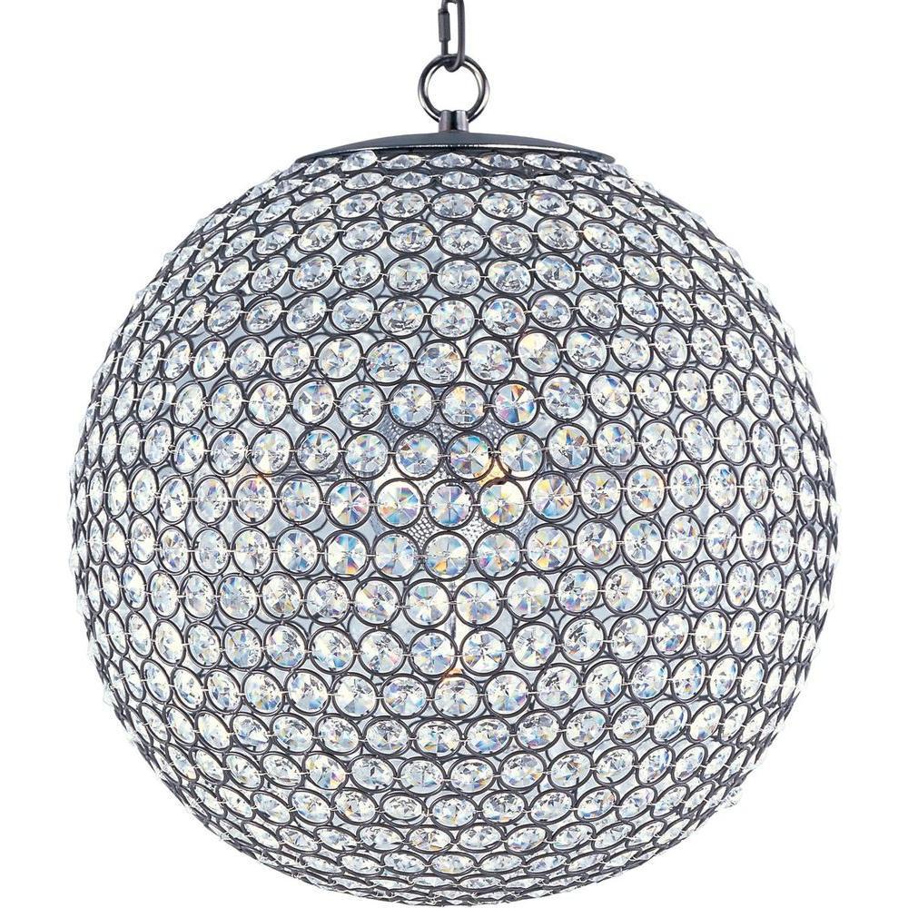 Maxim Lighting Glimmer 5-Light Bronze Single-Tier Chandelier