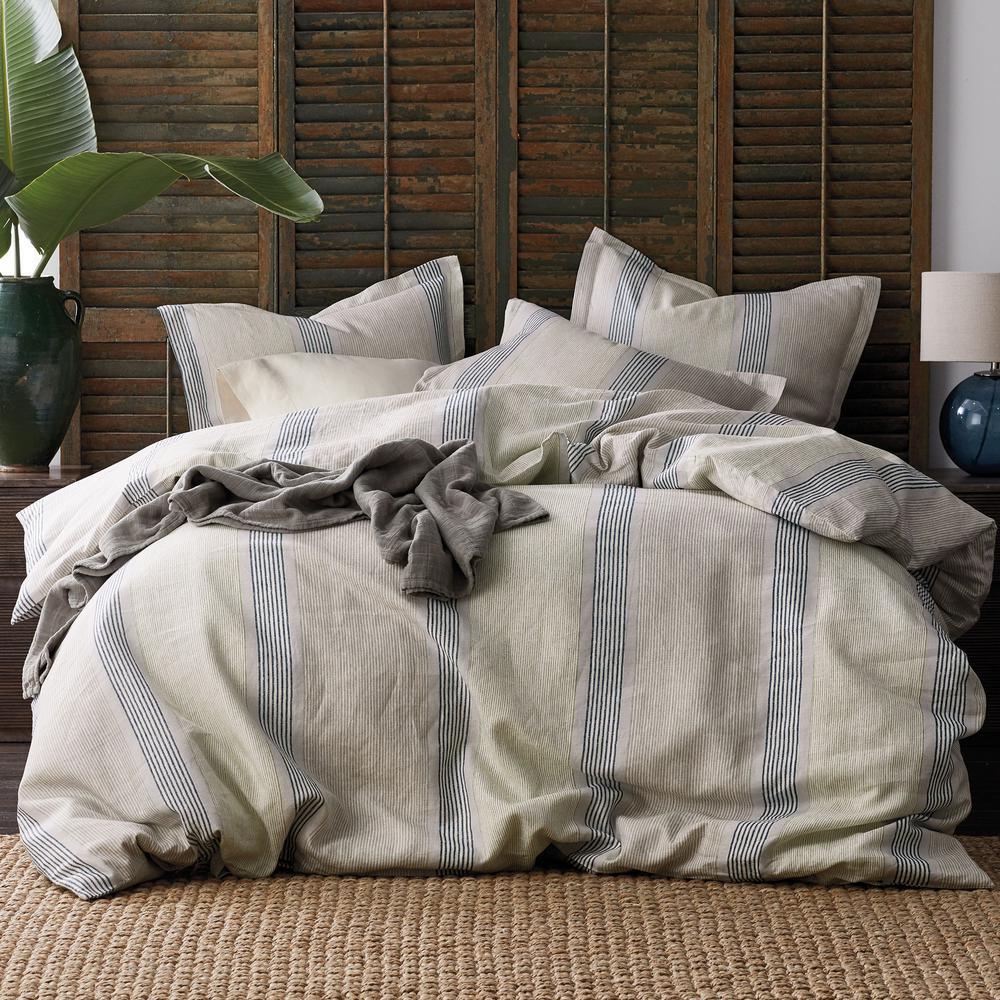 The Company Store Grady Stripe Linen King Duvet Cover 50343D-K-MULTI