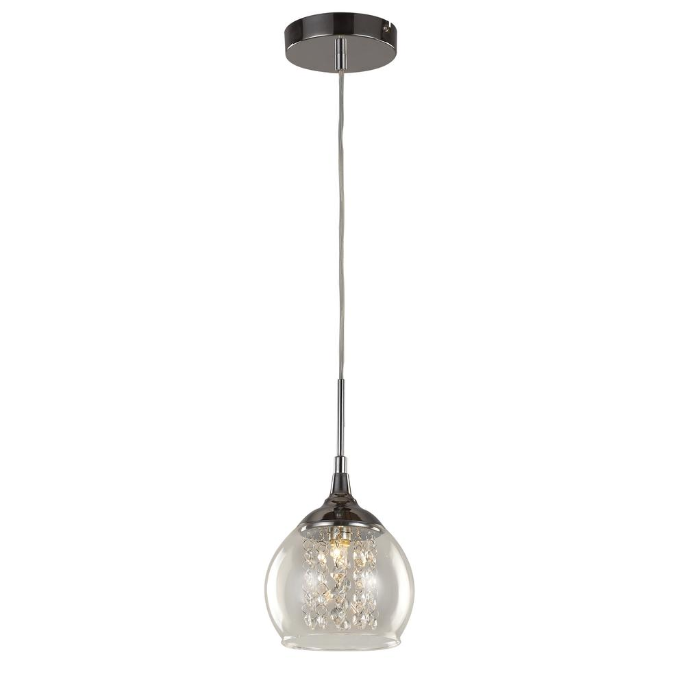 Bel Air Lighting Amore 1-Light Polished Chrome Pendant