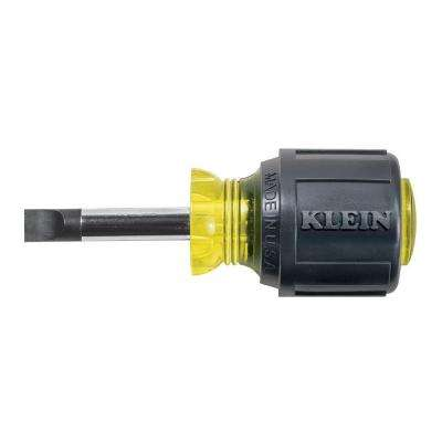 5/16 Cabinet-Tip Flat Head Screwdriver with 1-1/2 in. Heavy Duty Round Shank- Cushion Grip Handle