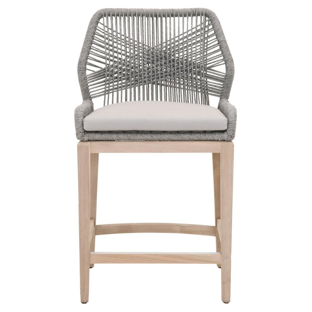 Orient Express Furniture Loom 26 In Platinum Rope Gray