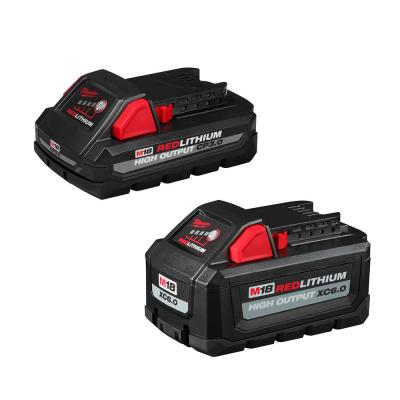 Milwaukee M18 18-Volt Lithium-Ion High Output 6.0 Ah and 3.0 Ah Battery