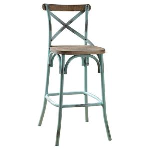 Surprising 14 In Antique Turquoise Wood And Metal Bar Height Chair With X Style Panel Back Ocoug Best Dining Table And Chair Ideas Images Ocougorg